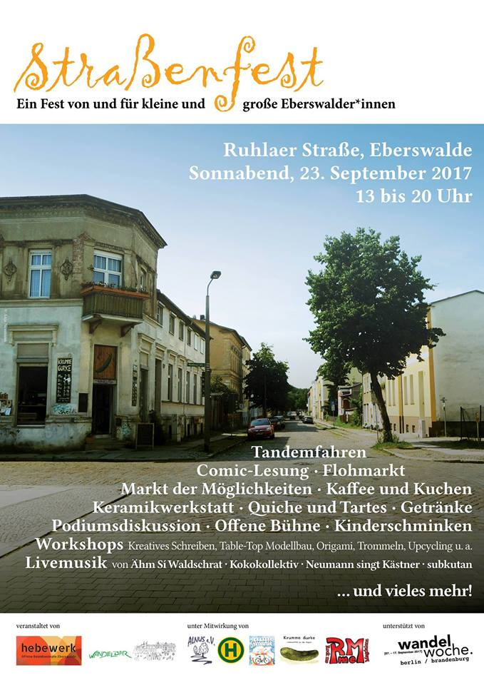 Ruhlaer Straßenfest Eberswalde Flyer 2018 – KOBAMUgasmus
